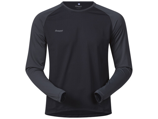 Bergans M's Slingsby Long Sleeve Black/Solid Charcoal